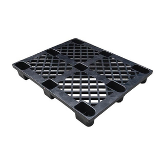 light duty cheap one way shipping reycled black disposable plastic pallet for export
