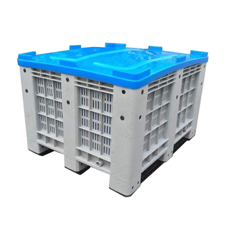 heavy duty HDPE stackable vented plastic pallet box for vegetable
