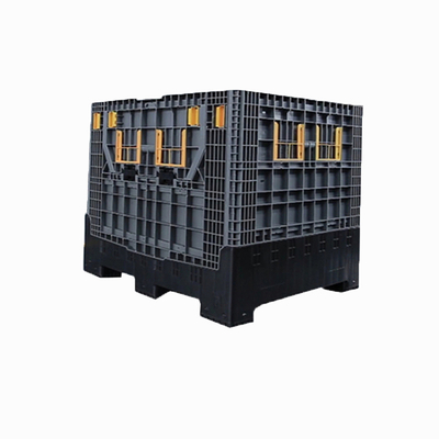 Heavy Duty Large Stackable HDPE Collapsible Plastic Pallet Box For Sale