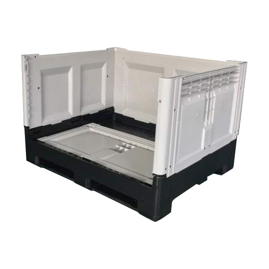 Large Size Hygienic Stackable Solid Walled Textile Use Plastic Stillage Floding Pallet Bin